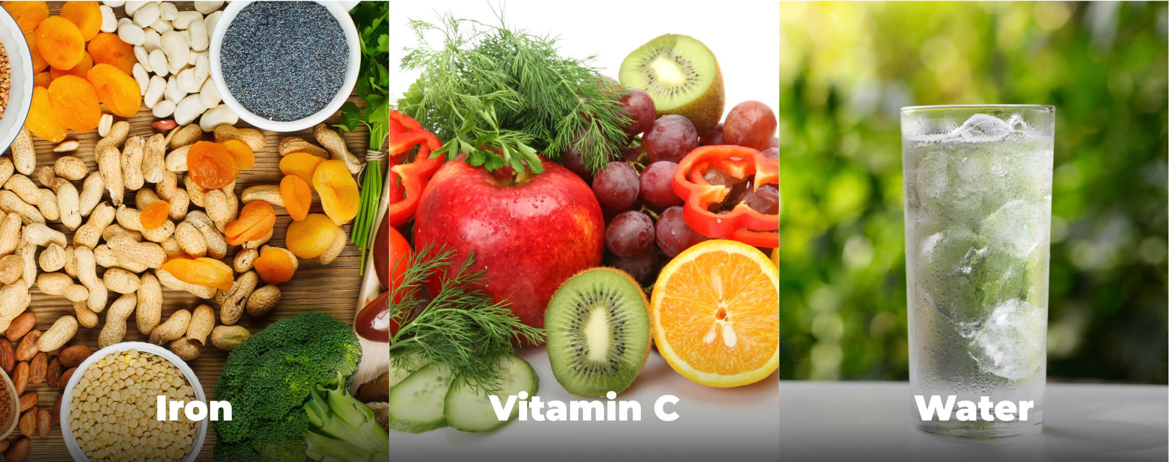 Iron, Vitamin C and Water