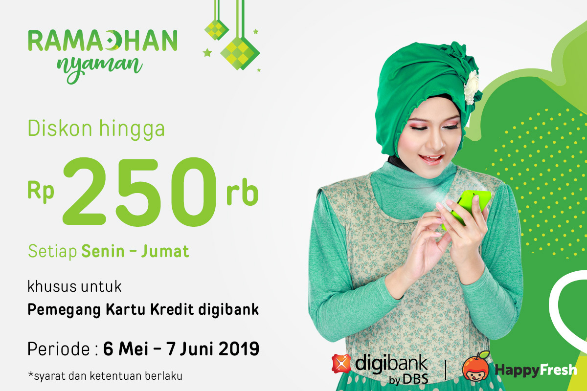 Ramadhan Nyaman Dengan Promo Digibank Diskon Hingga 250rb Happyfresh