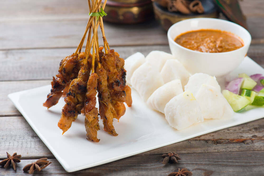 easy ketupat recipe with kuah kacang