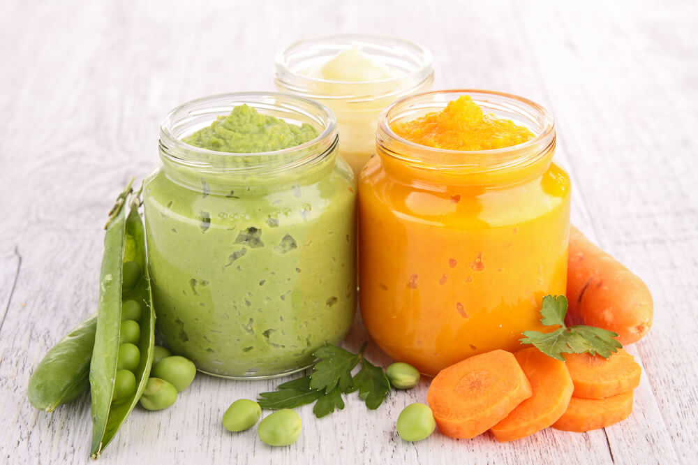 green and orange smoothies for baby