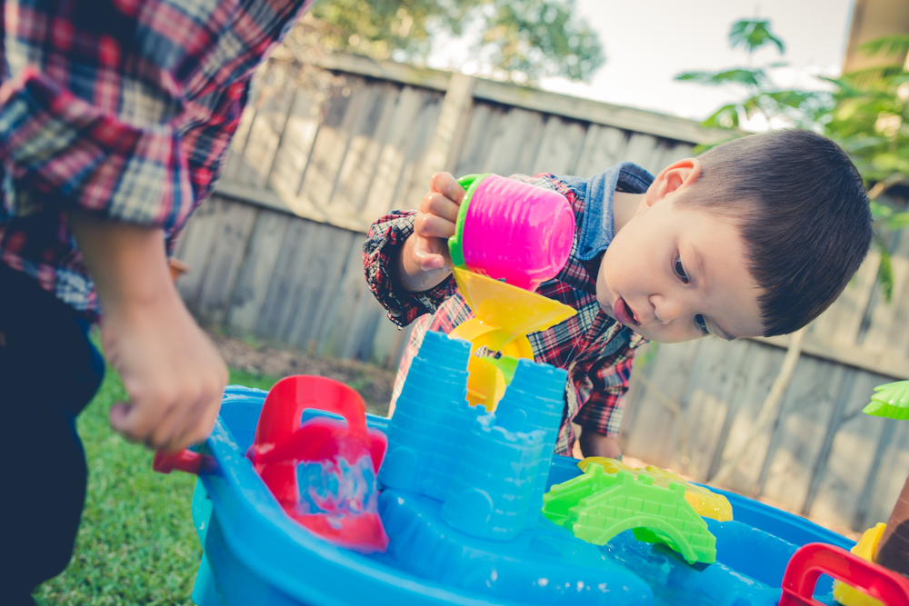 sink or float toddler activity at home