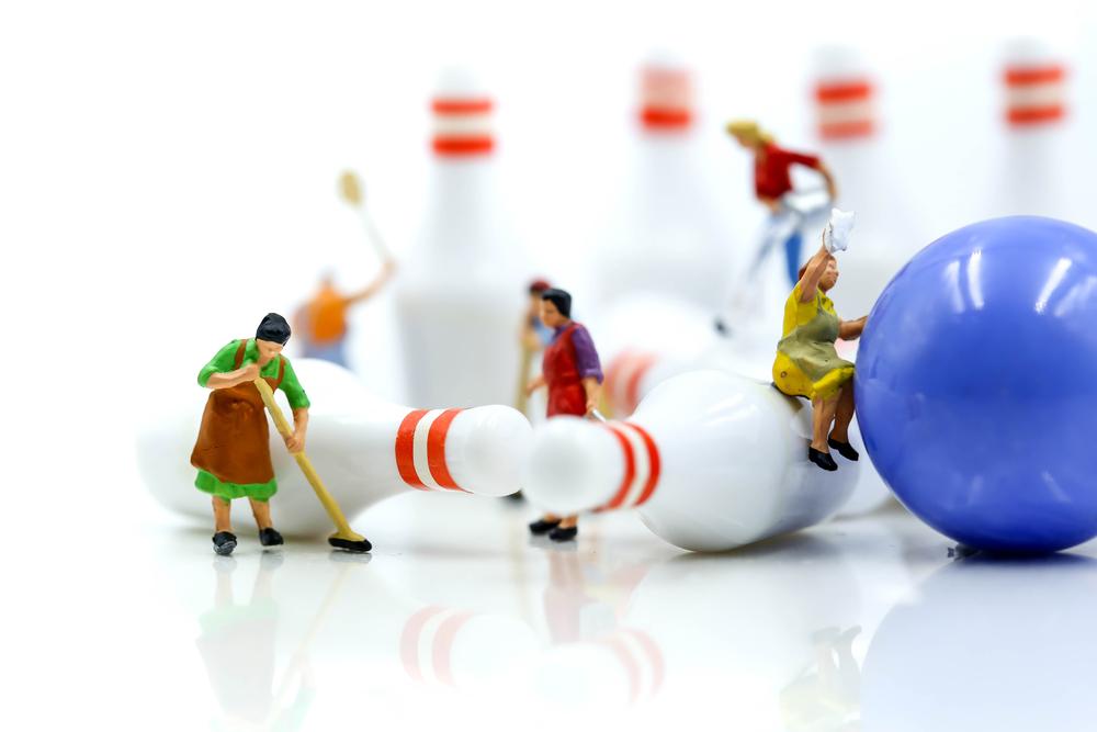bowling toddler activity at home