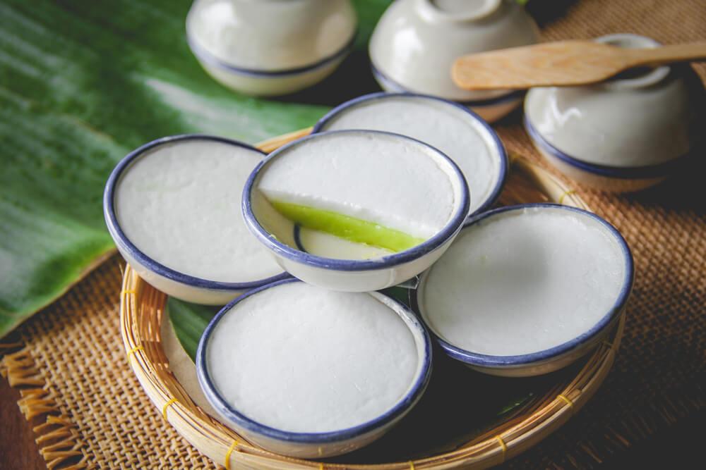 สูตร ขนมถ้วย ขนมไทยโบราณรสละมุน