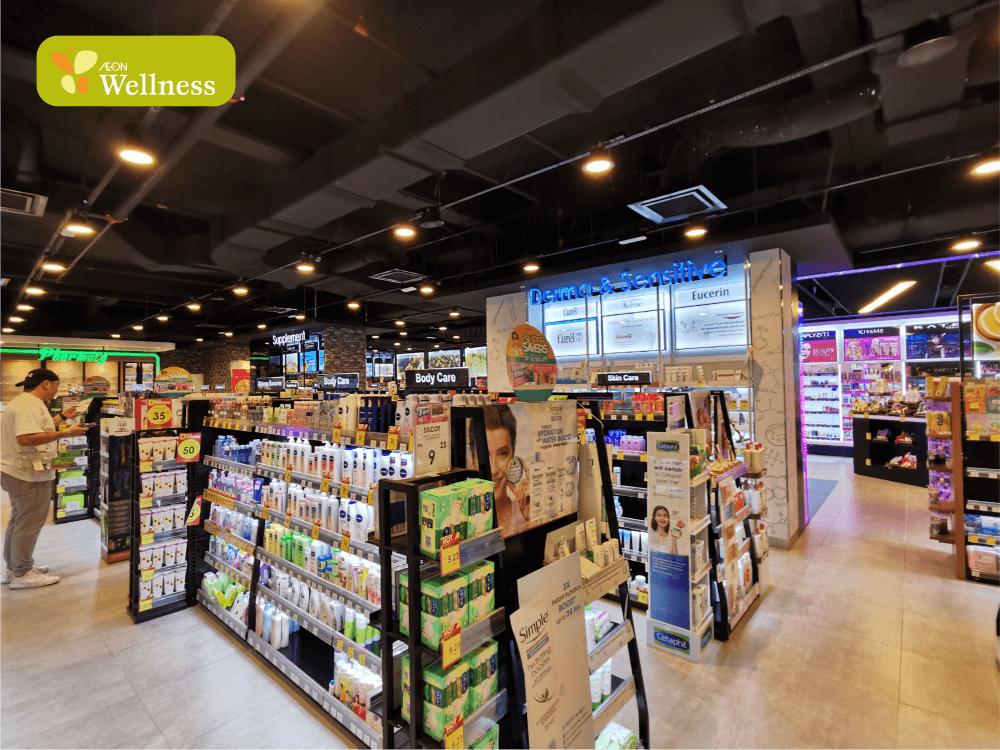 Aeon Wellness aisles