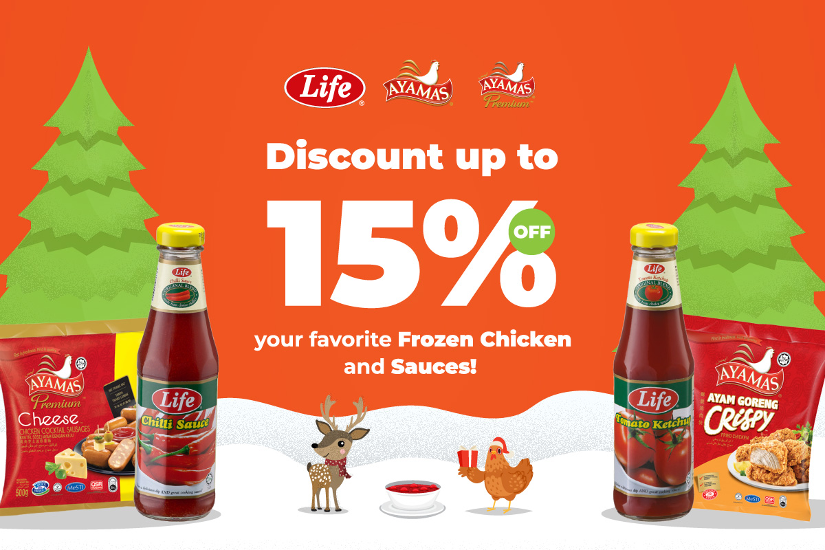 Ayamas frozen chicken & Life sauces