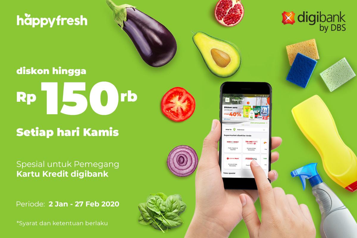 Kulkas Kosong Setelah Liburan Belanja Di Happyfresh Dengan Promo Digibank Happyfresh