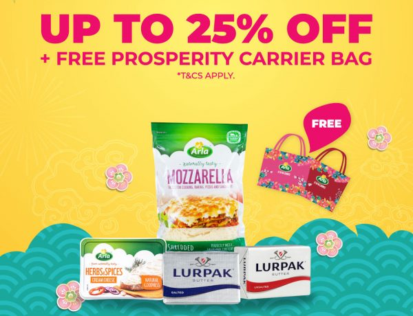 Up to 25% off and free prosperity bag