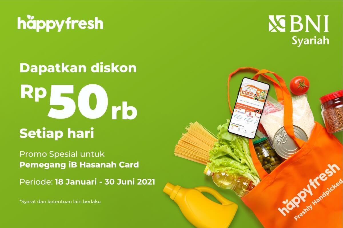 Belanja Di Happyfresh Bisa Menggunakan Kartu Kredit Bank Syariah Indonesia