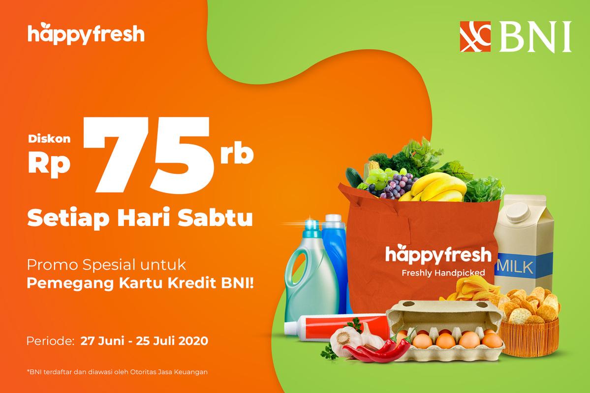 HappyFresh - BNI Saturday Promo Jun 2020