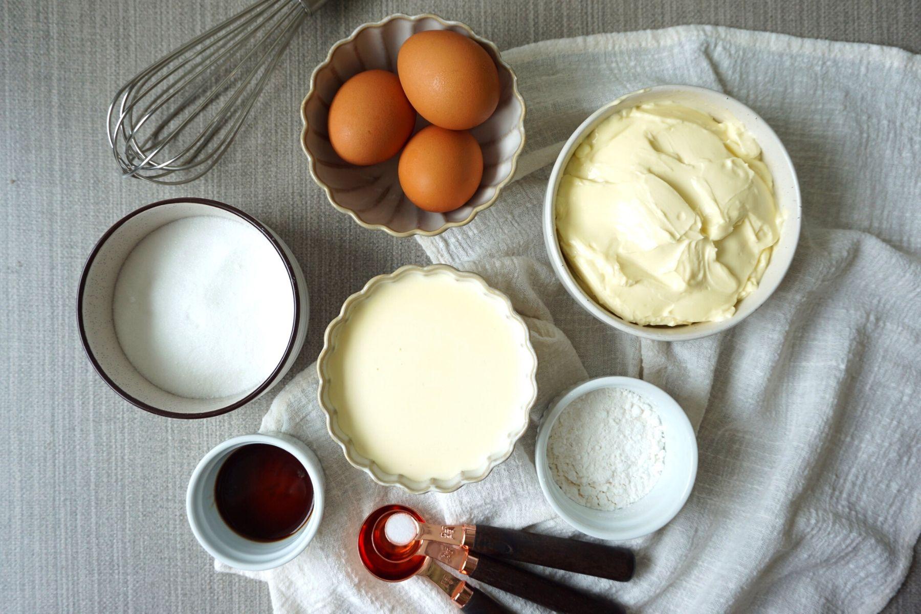 HappyFresh_Basque_Burnt_Cheesecake_Ingredients