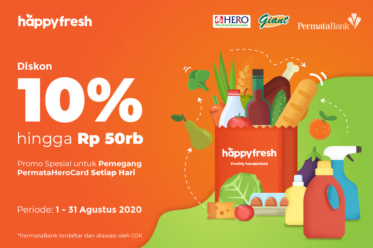 HappyFresh - PermataHero Promo August 2020
