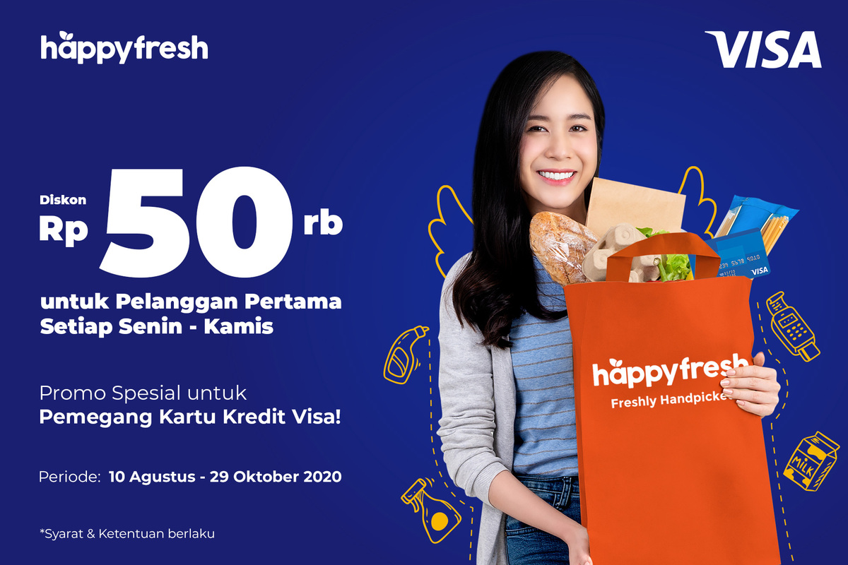 HappyFresh - Visa Credit Aug 2020