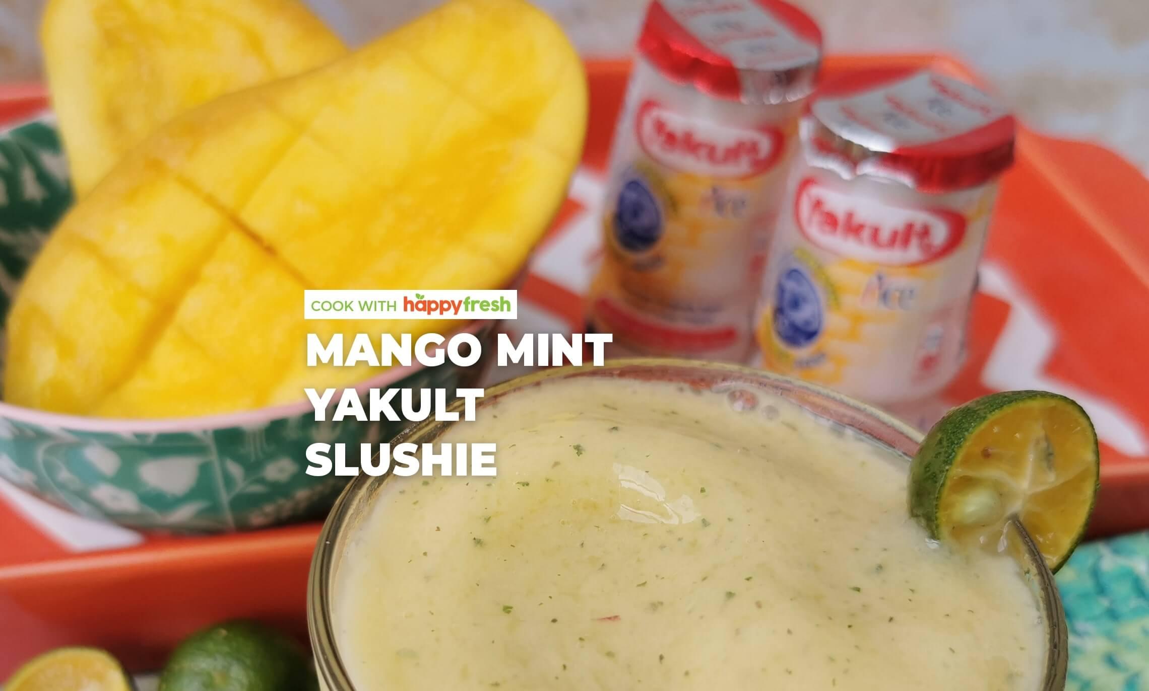 Mango mint yakult slushie