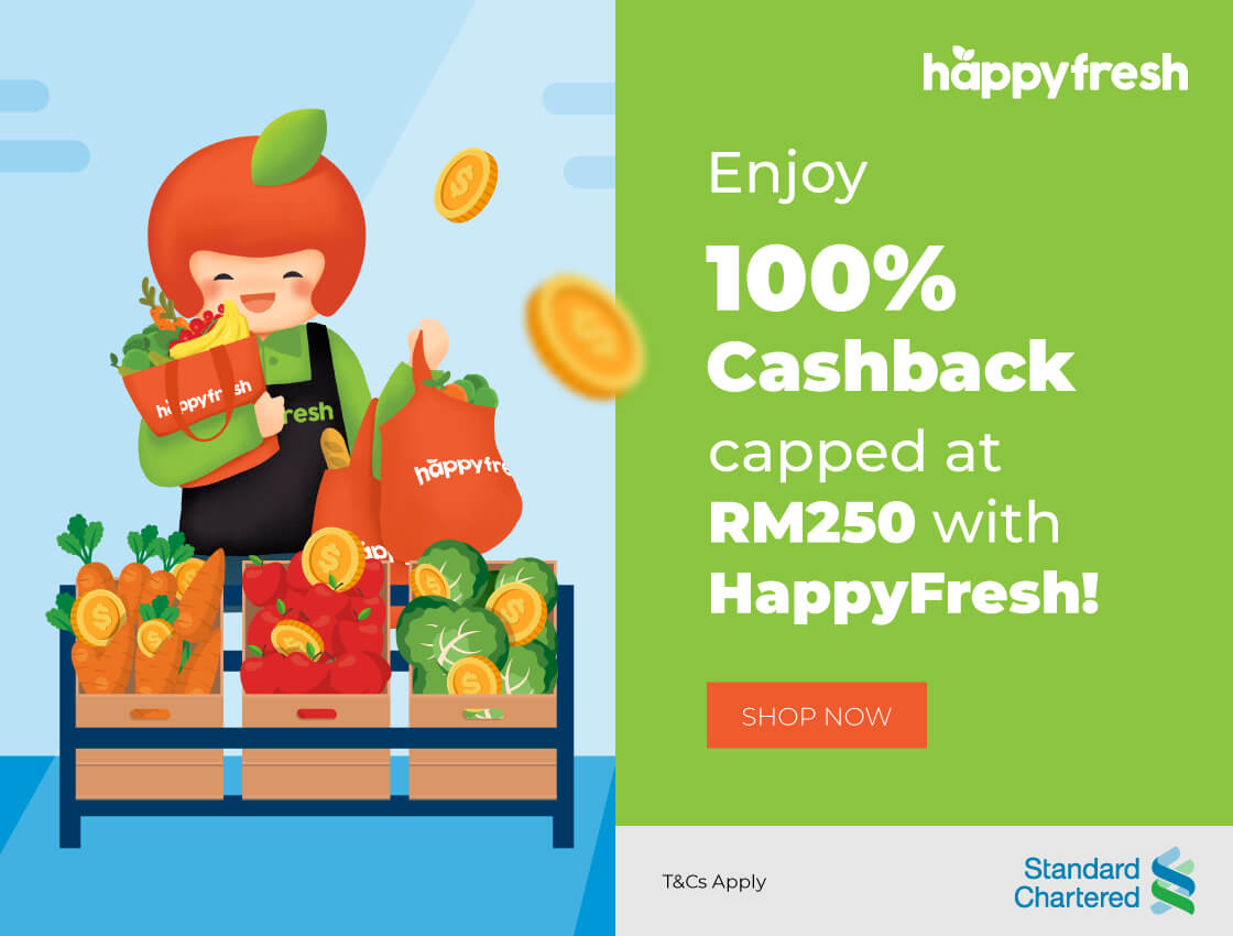 Standard Chartered Cashback rewards with HappyFresh