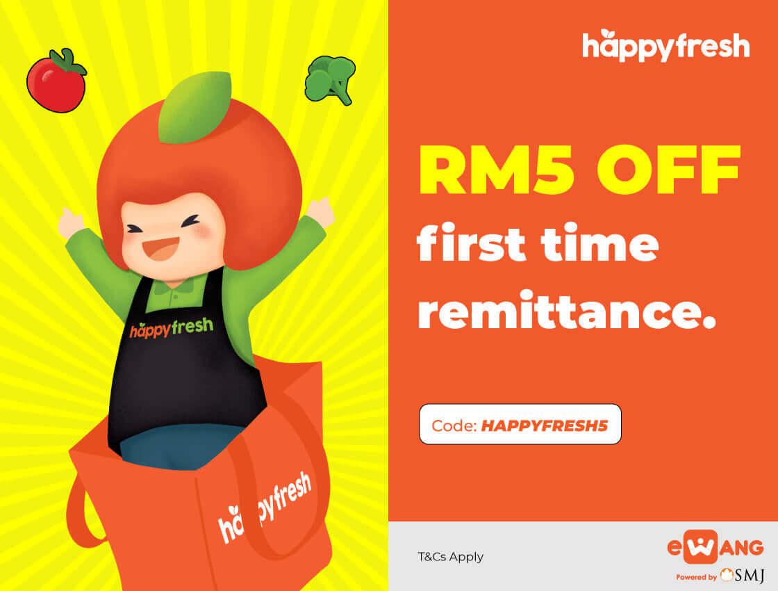 HappyFresh x eWang RM5 remittance