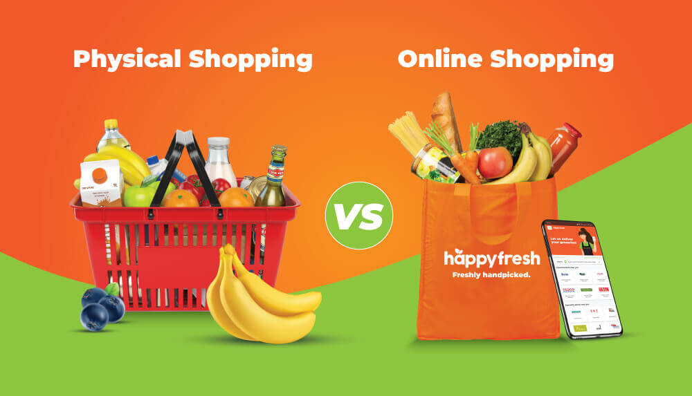 Physical shopping vs online shopping