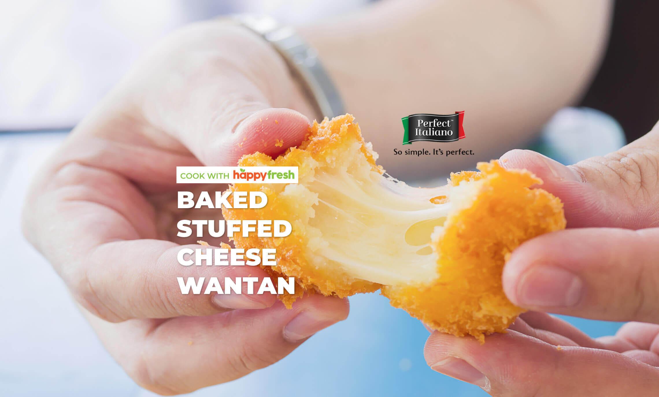 Baked cheese wantan