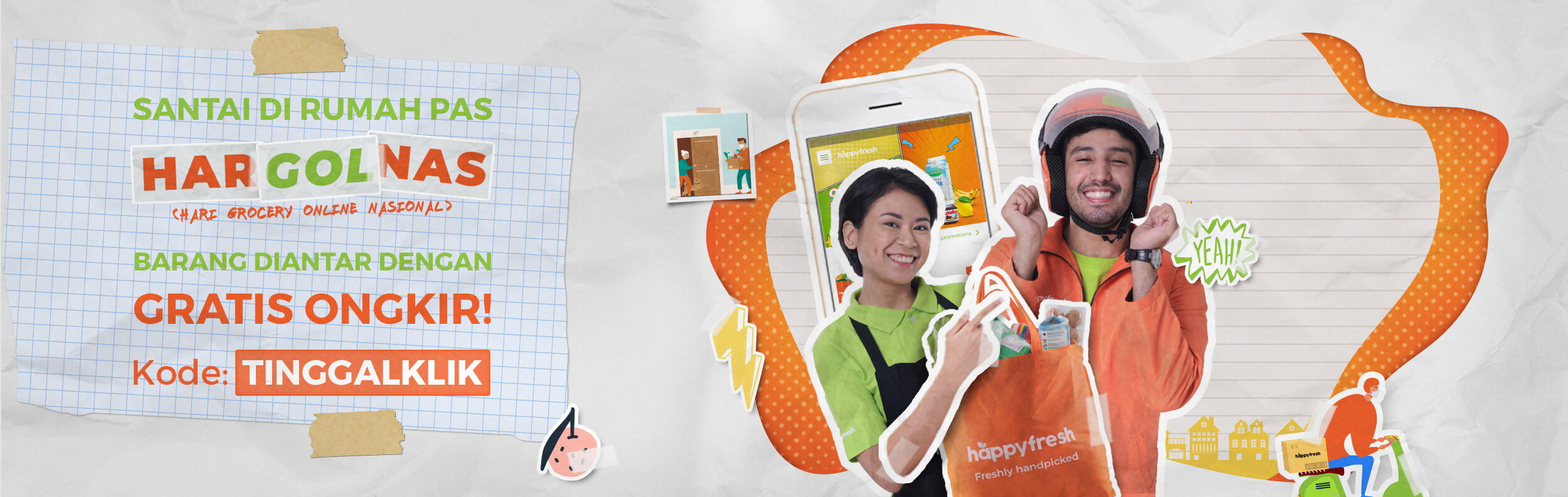 promo gratis ongkir HappyFresh