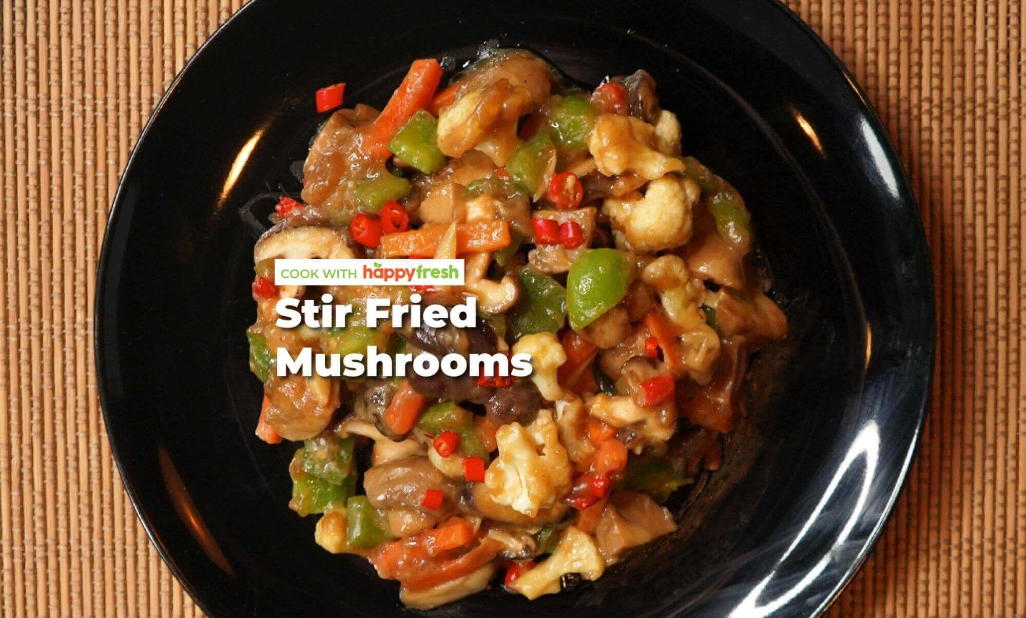 Stir fried mushrooms with Mahsuri sauce