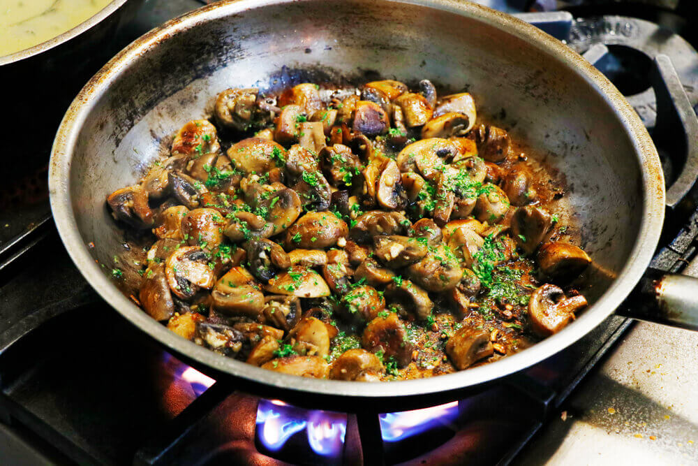 Stir fried mushrooms