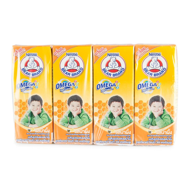 นม UHT ยี่ห้อไหนดี สำหรับเด็ก นมกล่อง ตราหมี รสน้ำผึ้ง
