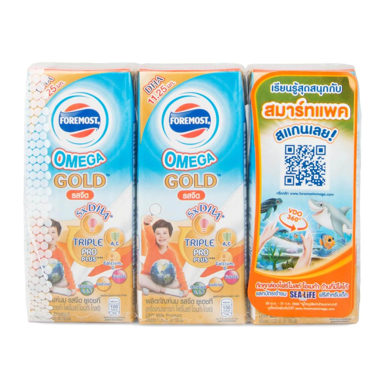 นม UHT ยี่ห้อไหนดี สำหรับเด็ก โฟร์โมสต์ โอเมก้า โกลด์