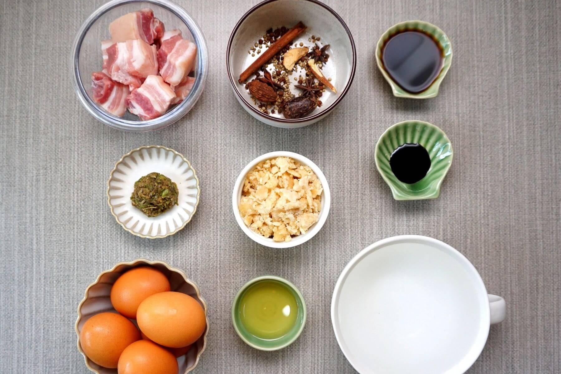 วิธีทำไข่พะโล้ วัตถุดิบ สูตรไม่ใช้ ผงพะโล้