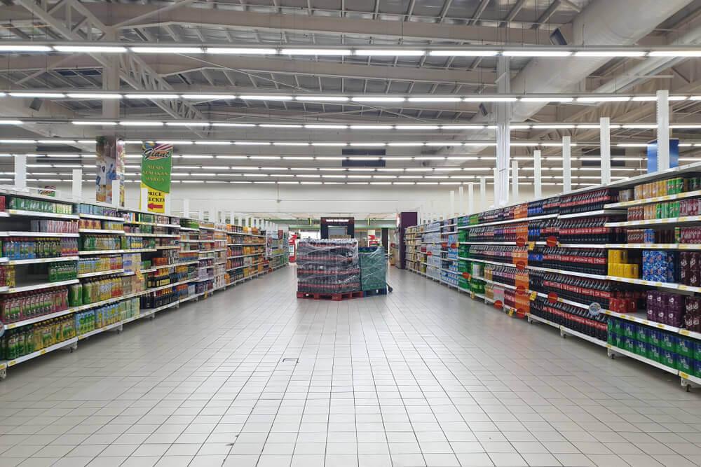 Giant supermarket aisles