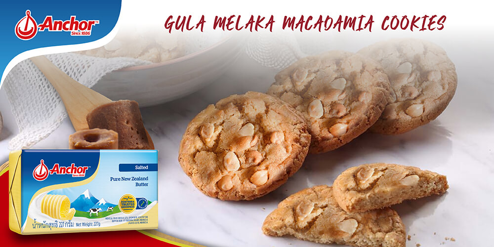 Gula Melaka Macadamia Cookies Recipe with Anchor butter