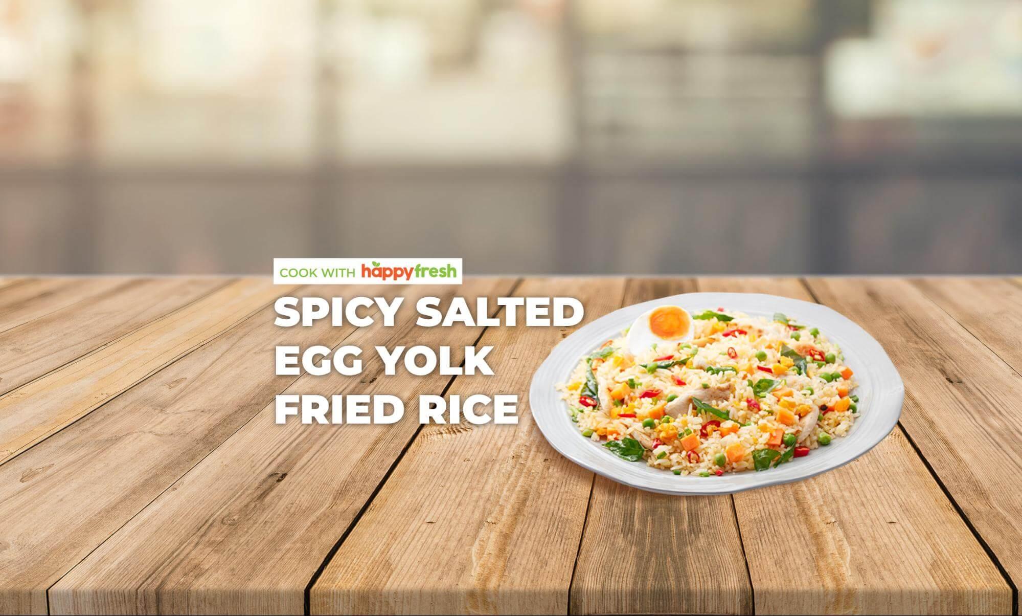 Spicy Salted Egg Yolk Chicken Fried Rice