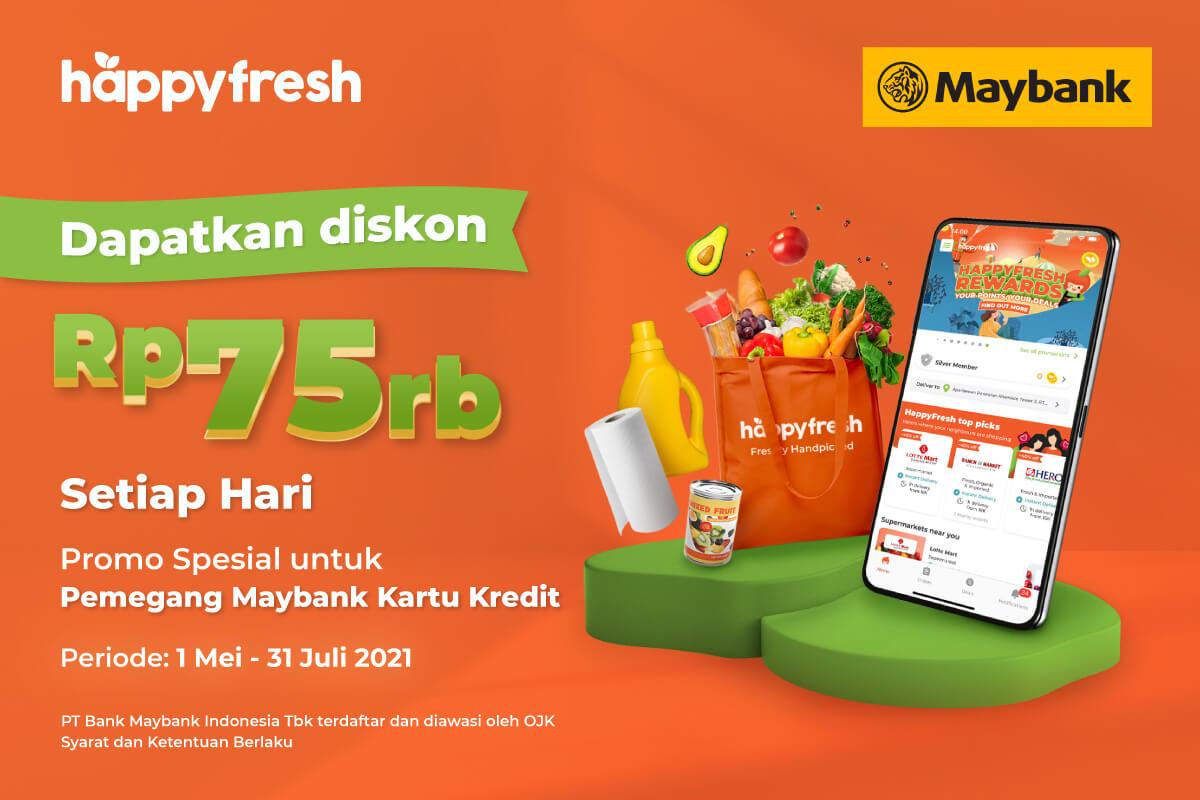 HappyFresh - Maybank 75K Promo 2021