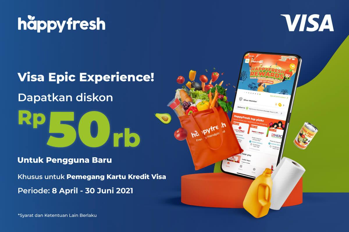 HappyFresh - Visa Credit New Customer 2020